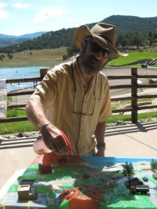 Mayor of Ridgway John I. Clark learned about our watershed using the UWP's watershed model.