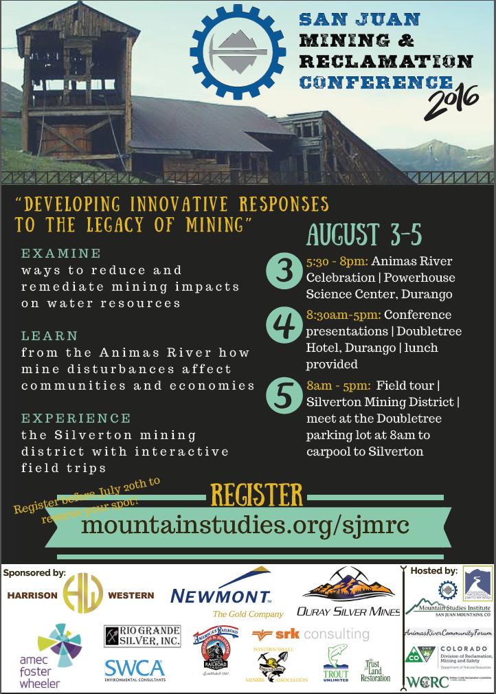 2016 San Juan Mining & Rec Conference Poster