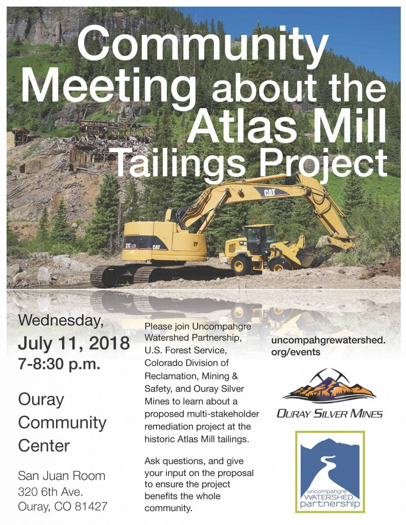 Atlas Mill Remediation Project Community Meeting @ Ouray Community Center | Ouray | Colorado | United States